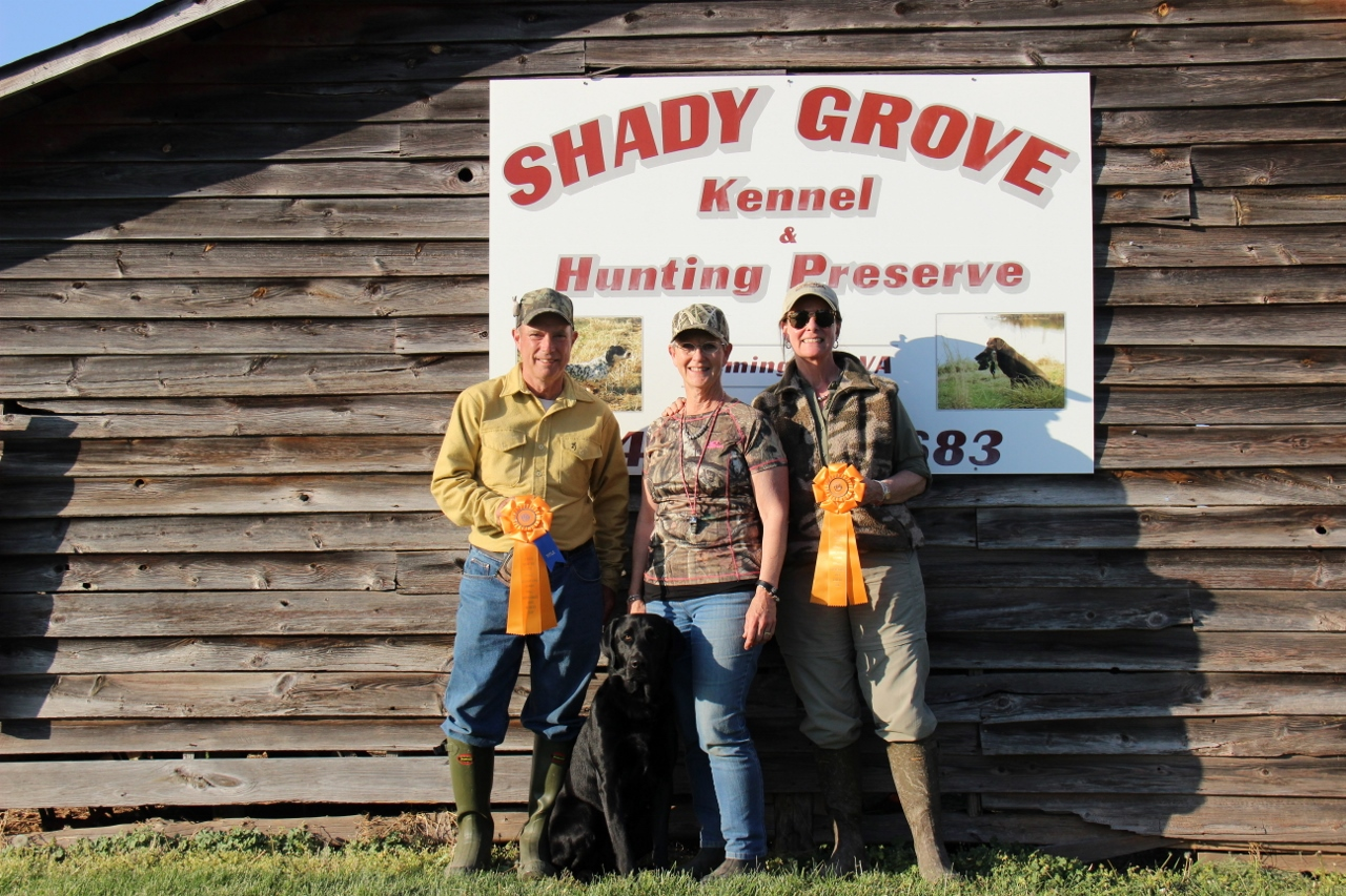 Hunt Test Success Garth & Sandy have earned the AKC Junior Hunter title.